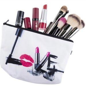 Handbags - LOVE makeup pouch - NWOT